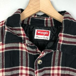 Wrangler Shirts - Wrangler VTG Flannel Quilted Lined Size XL